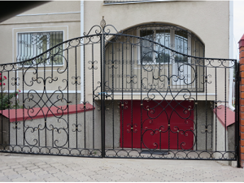 Кованые ворота распашные №8