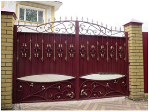 Ворота кованые №11