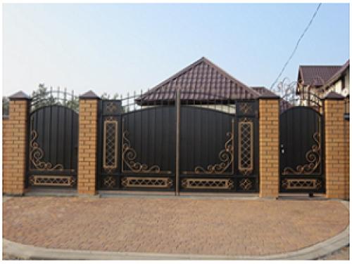 Ворота кованые распашные №13