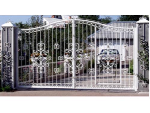 Ворота кованые распашные №18