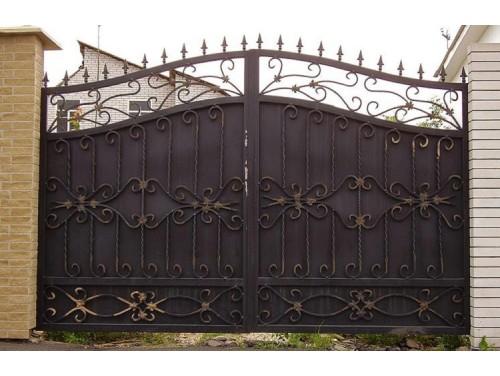Кованые ворота распашные №2