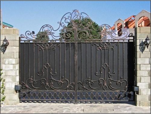 Ворота кованые распашные №3