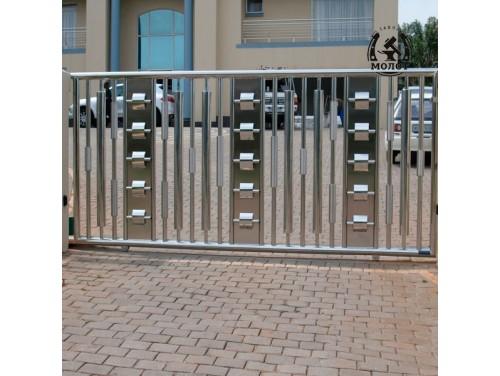 Откатные ворота из нержавейки 170