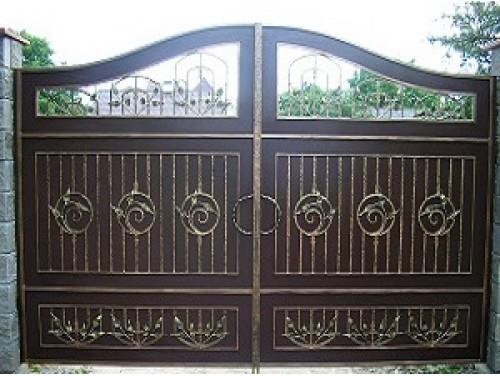 Ворота кованые распашные №6