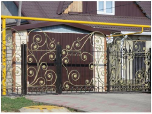 Ворота кованые распашные №12