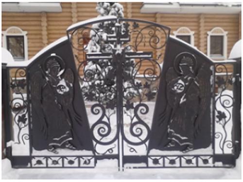Ворота кованые №15