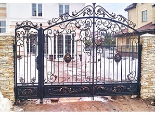Ворота кованые распашные №16