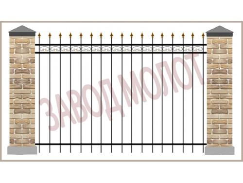Забор кованый CT-ZK-3