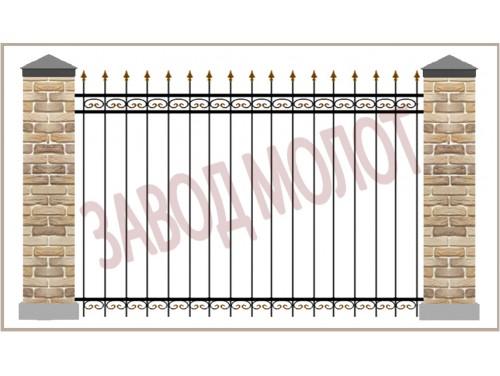 Забор кованый CT-ZK-4