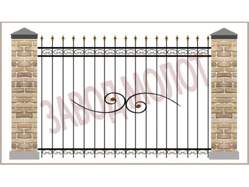 Забор кованый CT-ZK-5