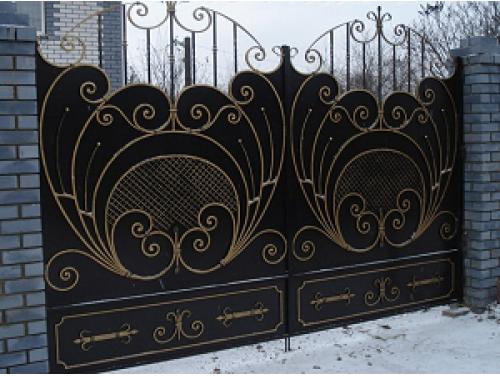 Ворота кованые распашные №5